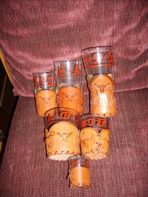 Western themed glasses