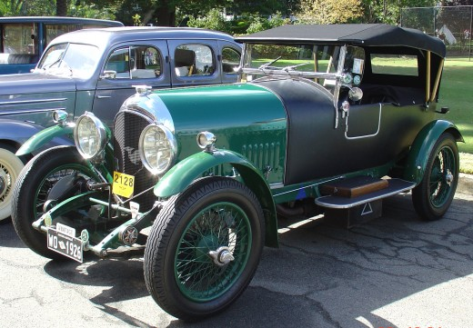 A 1926 Bentley in mint condition.