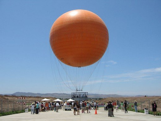 The Orange County Great Park Balloon was photographed by Ganesh Krishnamurthy on July 14, 2007.