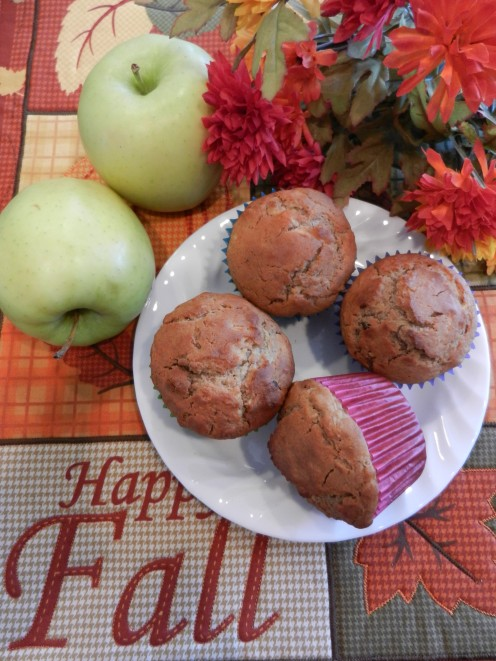 Apple muffins are perfect for cool fall days!