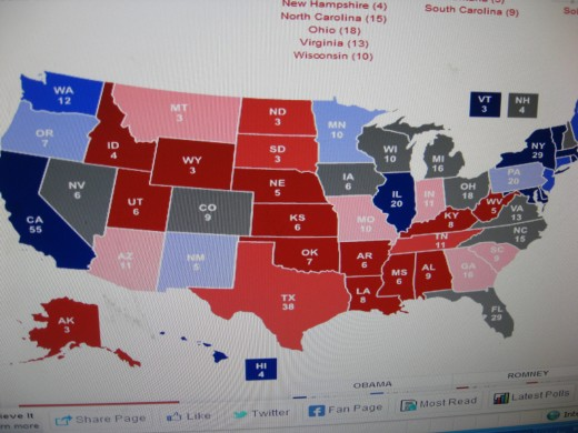Interactive Map for 2012 Presidential Race