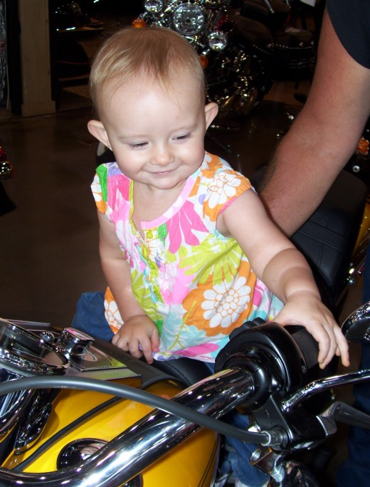 She needs her Daddy to be safe so that he can teach her to ride someday.