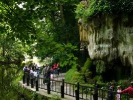 The riverside path by Mother Shipton's Cave, shade from the hot sun in summer, study the geology of the Nidd Gorge