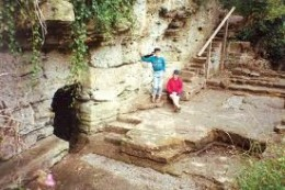 St Robert's Cave entrance, home to a hermit?