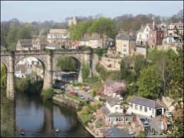 Knaresborough with its famous railway viaduct across the River Nidd gorge
