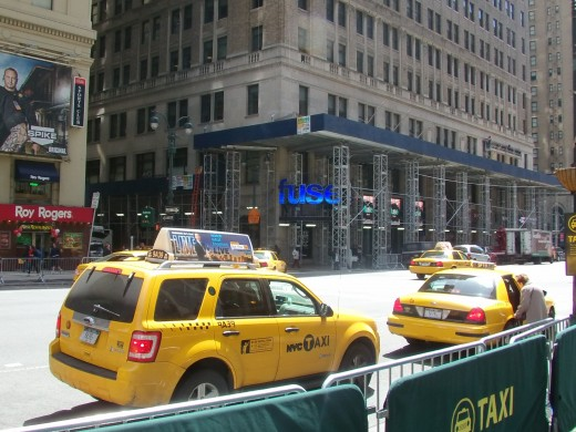 Cab station out side of Madison Square - 34th street