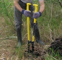 Fig 3.  Using a Post Digger