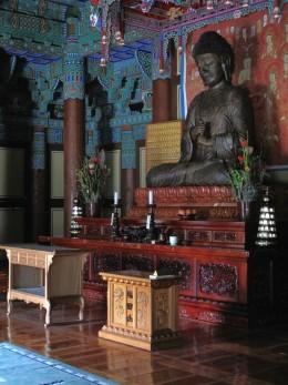 A meditating Buddha at Borim Temple in Jangheung, South Korea