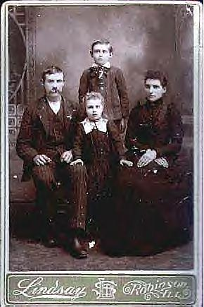 Here we have a 19th century family in Illinois