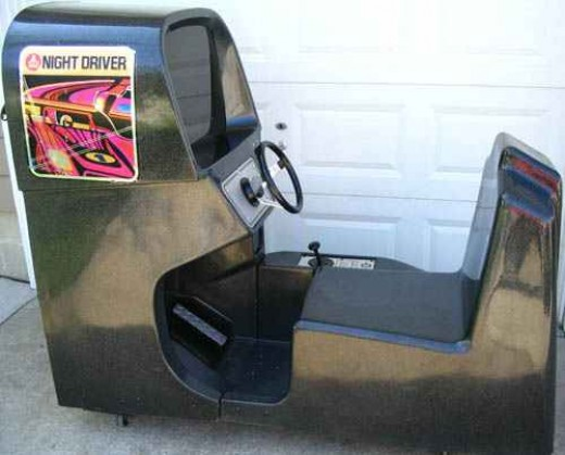 A well preserved sit-down version of Atari's Night Driver