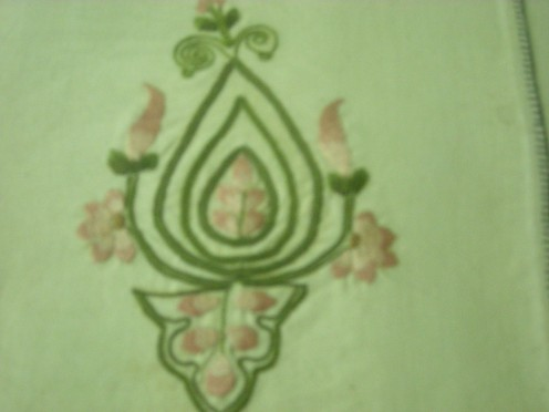 kashmiri embroidery on woolen shawl