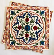Kashmiri crewel embroidery on cushion covers
