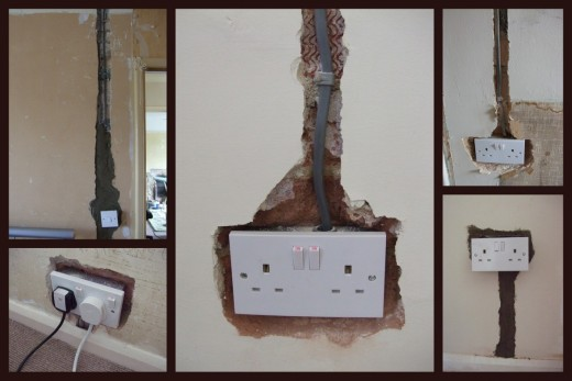 There may be a lot of plastering work required after the electrical work has been done.
