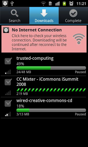 Downloads bars in aTorrent.