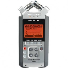 Zoom h4n: Ideal for recording interviews, lectures, rehearsals, meetings, and more, this palm-sized unit packs the ability to record up to 4 channels of audio at greater than CD quality.