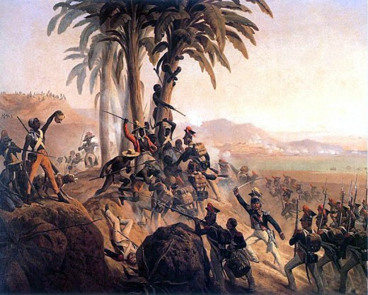 A painting by January Suchodolski about the Battle of Santo Domingo from 1845
