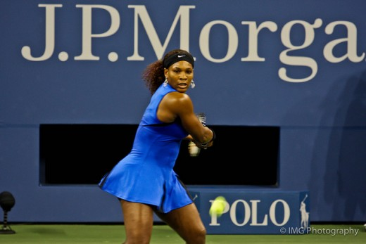 Serena Williams is one of the best serve returners in women's tennis.