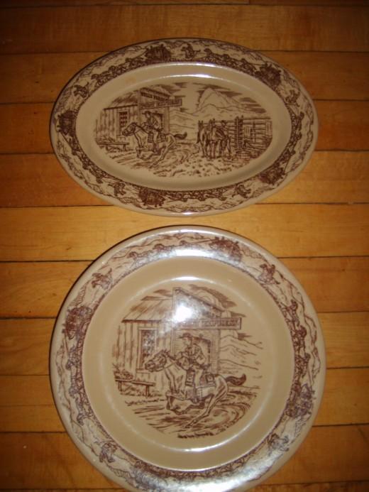 Western Traveler platter and plate