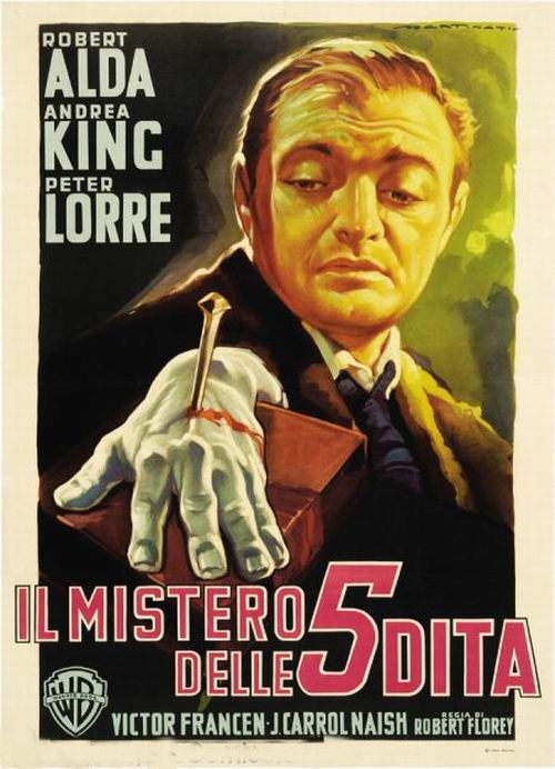 The Beast With Five Fingers (1945) Italian poster