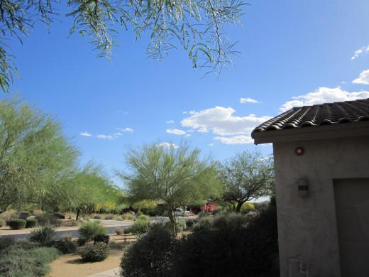 'The bluest sky you've ever seen...' is not in Seattle, it is in Arizonza.