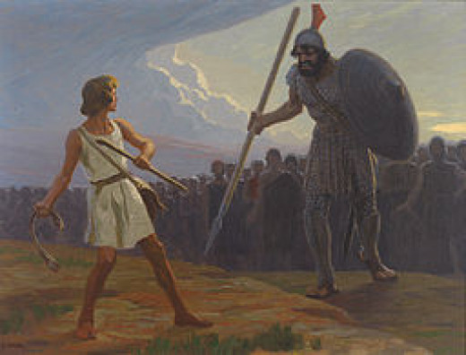 You can use the story of David & Goliath to teach about courage and obedience.