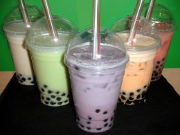 Bubble tea, also called boba tea.