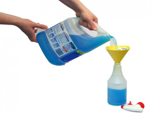 Homemade spray cleaners are great for stretching the dollar by simply adding a little water to any cleaner you already have.