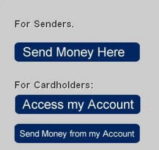 Send money here option