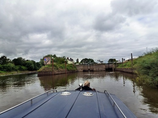 Approaching the two locks