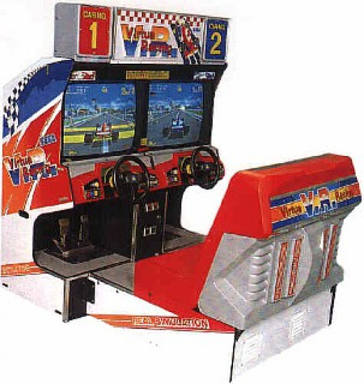 Virtua Racing is one of the best two player drivers ever