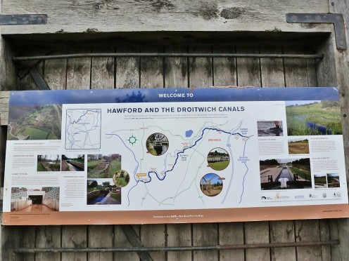 Information board on the tow path.