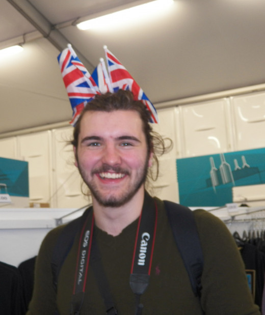 George Busby, proud supporter of Team GB.
