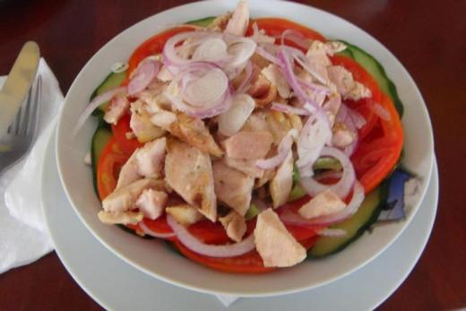 Picture of chicken salad I had in one great Greek restoraunt