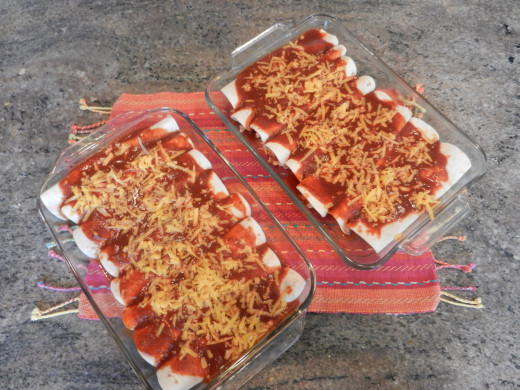 Cheese Enchiladas ready for the oven!