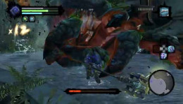 Darksiders 2 attack the underbelly of Karkinos with powerful secondary weapons after toppling Karkinos with orb