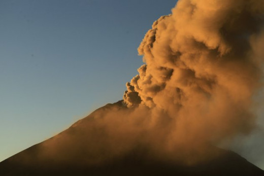 More volcanic activity in South America.