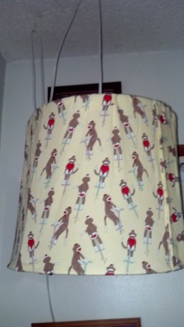 This is the lamp shade my daughter made for my grandson's play area.
