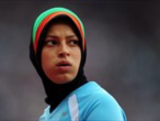 Tahmina Kohistani, female Afghan 100m sprinter. Braved her country's censure to compete in 2012 Olympics.