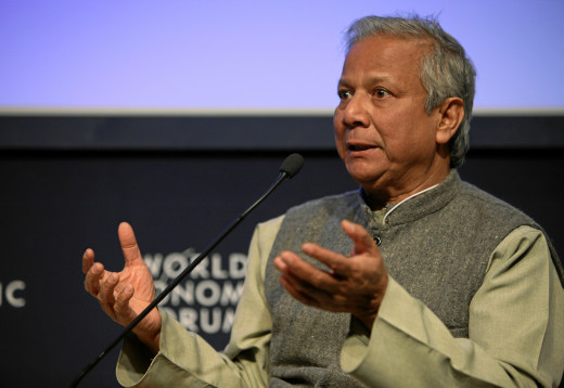 Muhammad Yunus, a nobel peace laureate, developed the concept of microfinance that is widely used worldwide. He founded Grameen Bank, a community development bank that gives small loans to the poor.