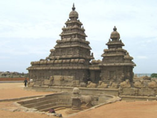 Famous Shore Temple in Mamallapuram