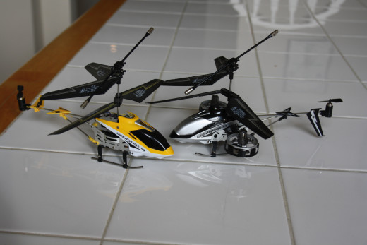2 of the 3 helicopters I sent the hubby overseas.