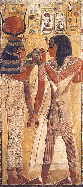 Hathor with Seti I