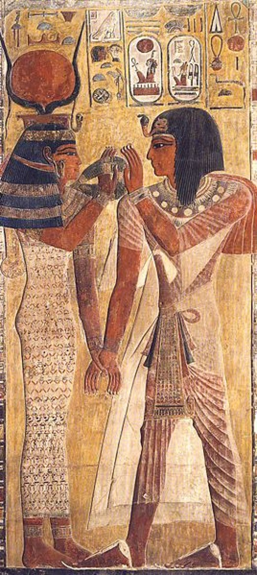 Hathor with Seti I