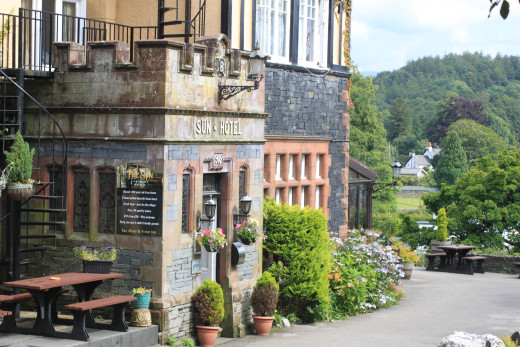 The Sun Hotel in Coniston is a great place to start (and finish with a beer) a climb of the Old Man