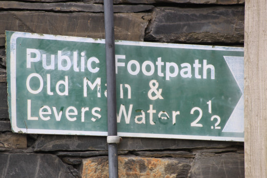 Follow the signs for the Old Man Of Coniston outside the Sun Hotel