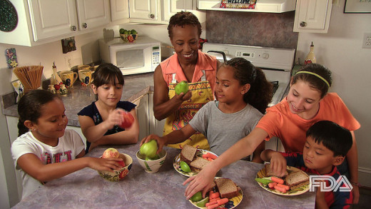 Offer kids healthy snacks