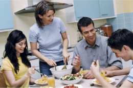 Connecting to our chidren through family mealtime helps teach them about eating nutritiously, among many other benefits