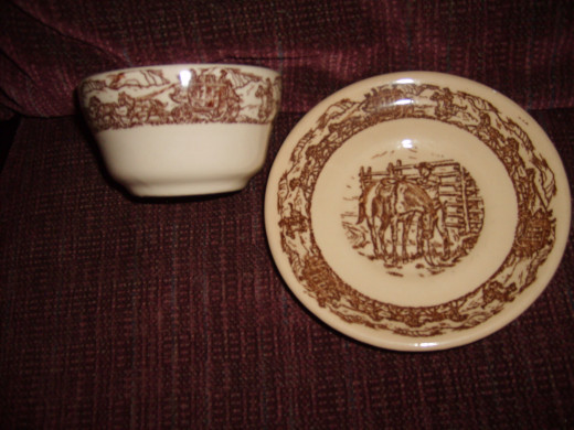 Western Traveler sauce bowl and saucer