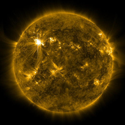"Solar flare sending ""shockwaves"" on the sun"