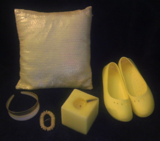 A selection of yellow items from the author's home